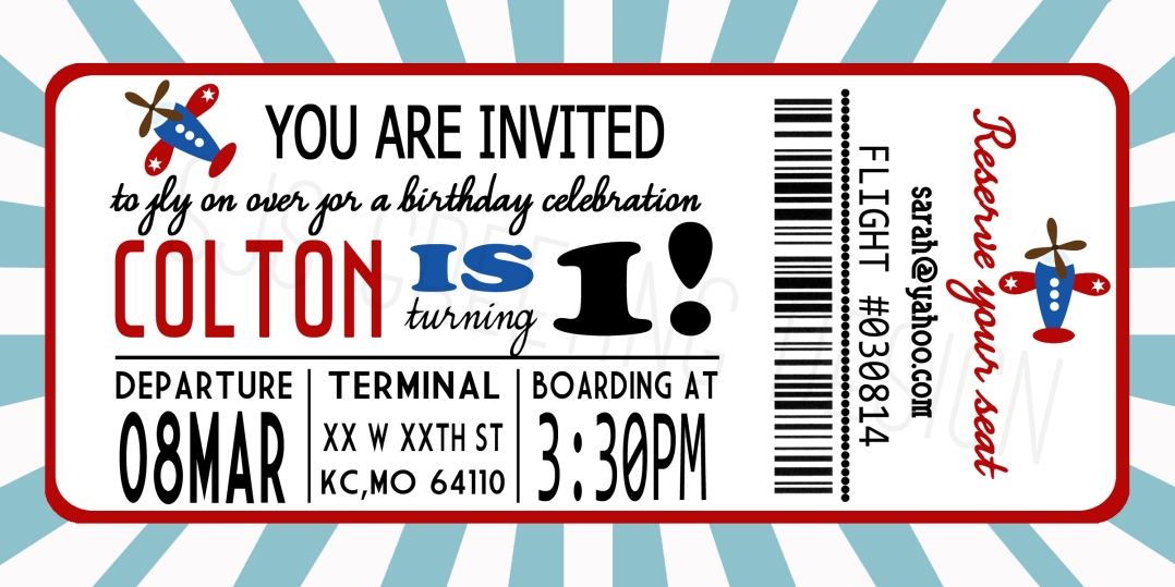 1 birthday invite