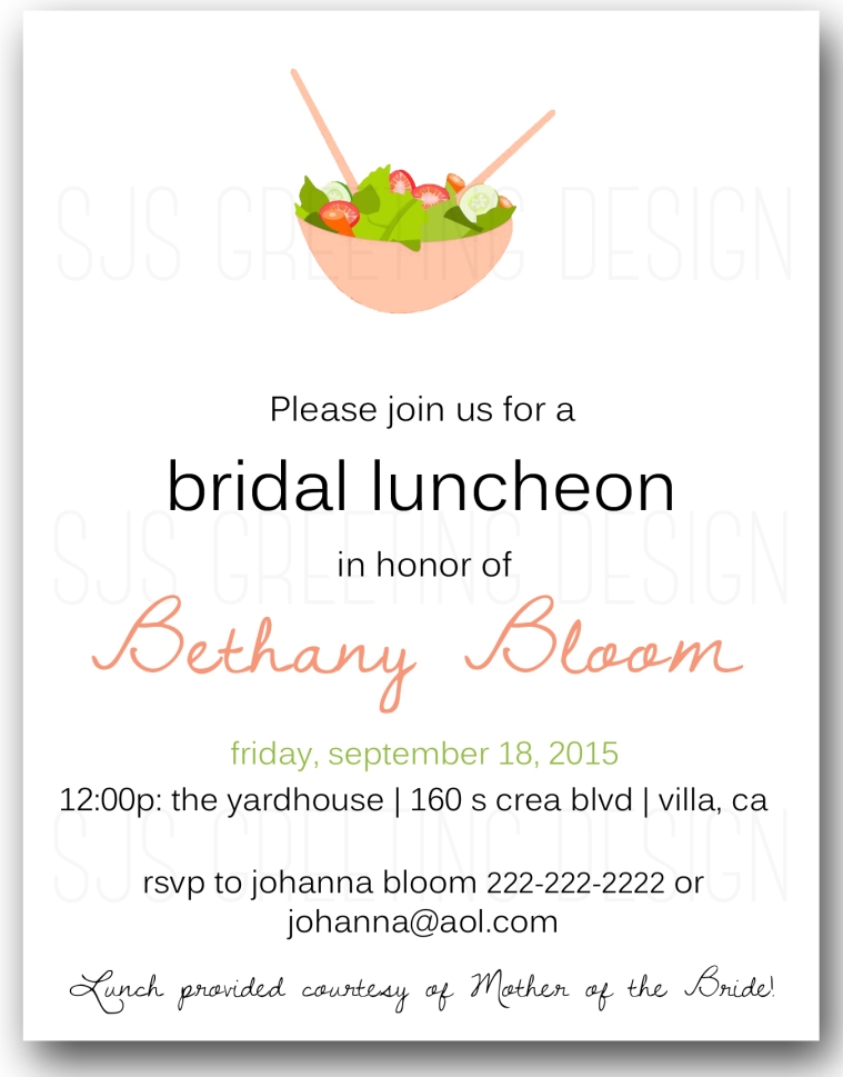 bridal luncheon