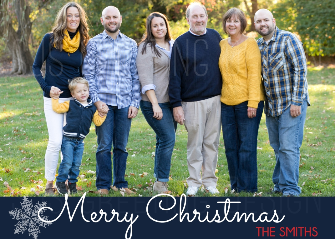 merry christmas navy holiday card