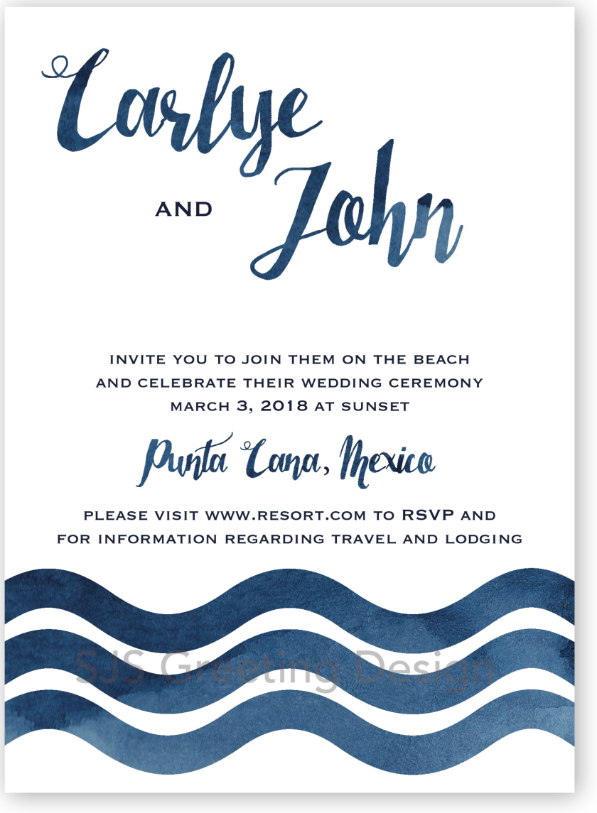 waves invitations